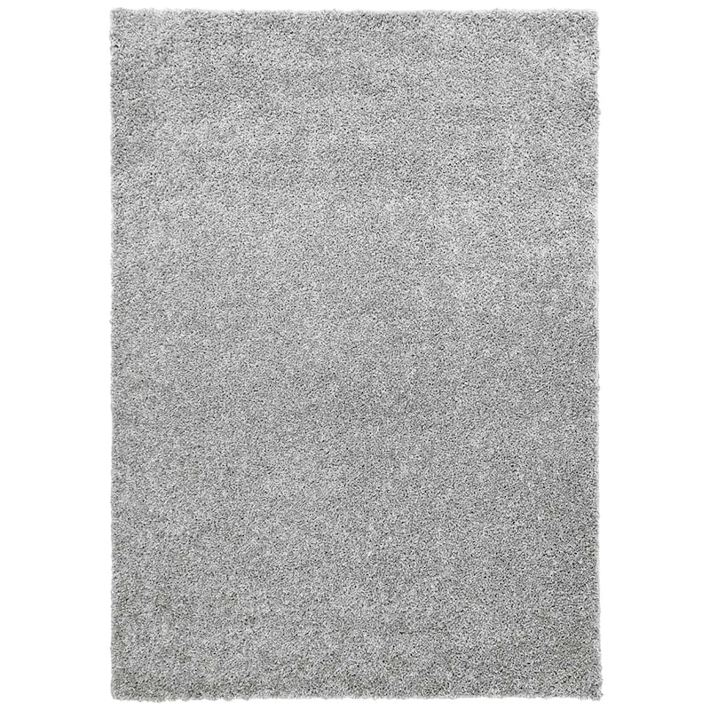(C105) Bella Soft Tufted Shag Light Grey Area Rug, 5x7