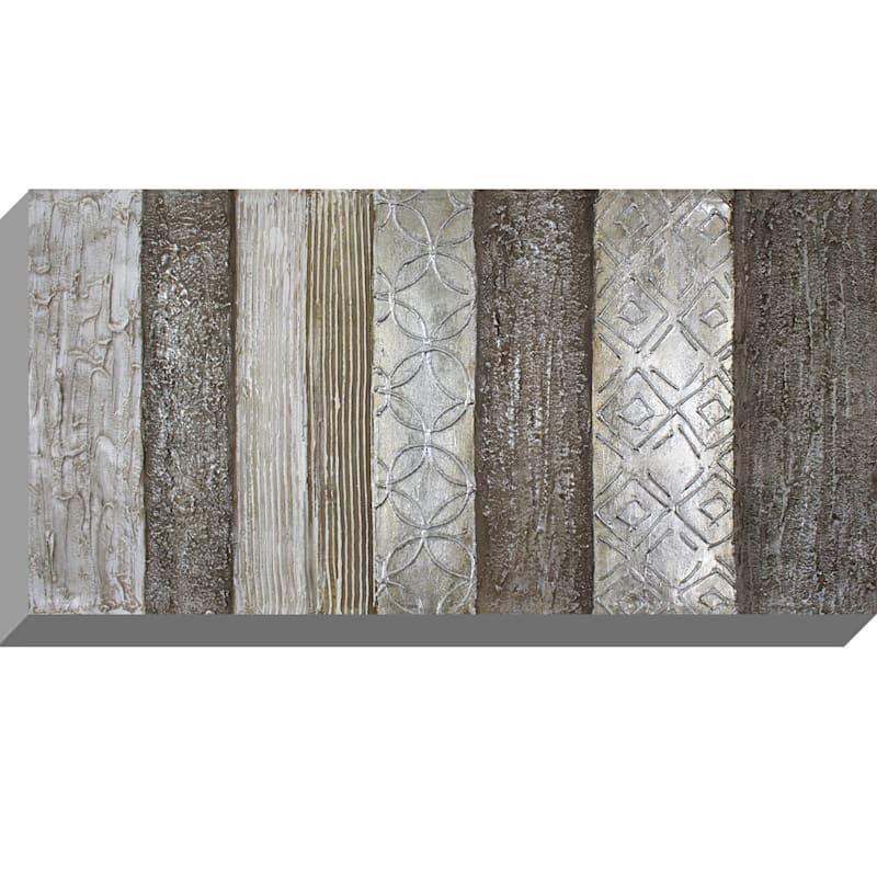 20X40 Neutral Metallic Panel Enhanced Canvas