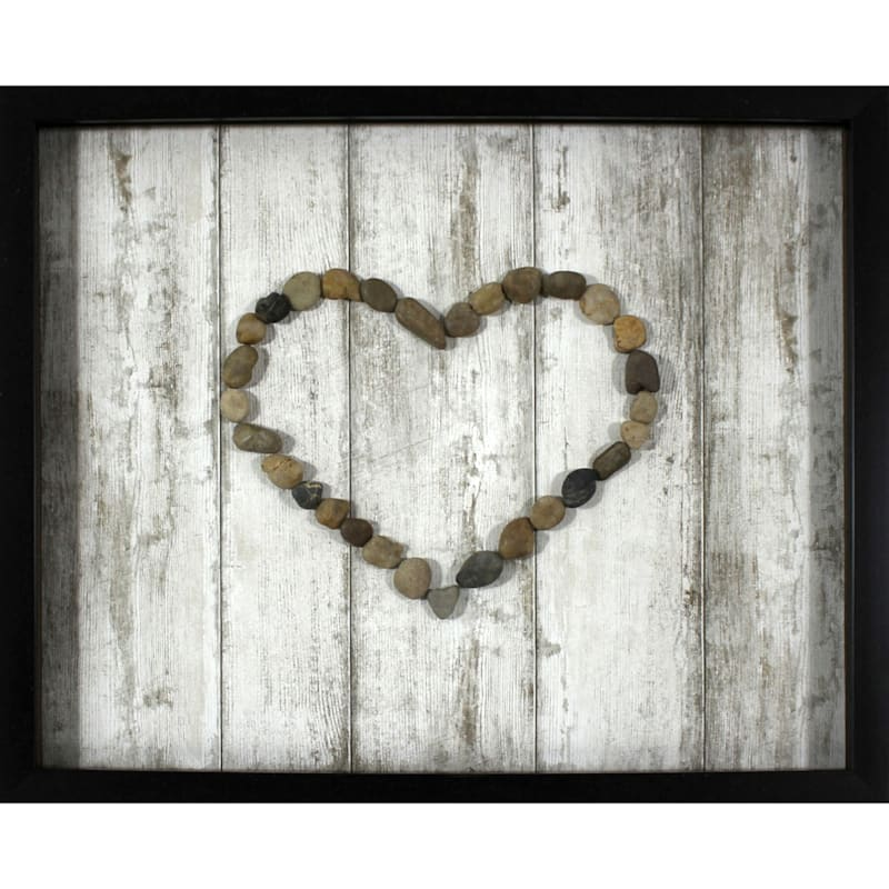 16X20 Heart Rocks Framed/Glass