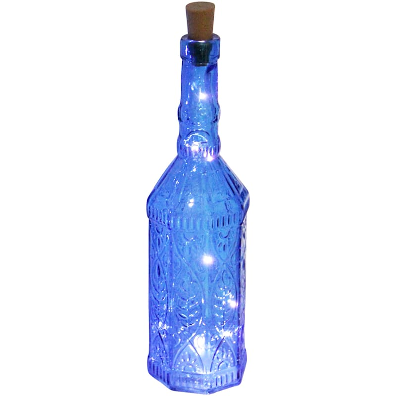 Blue Led Light Up Bottle 3X13