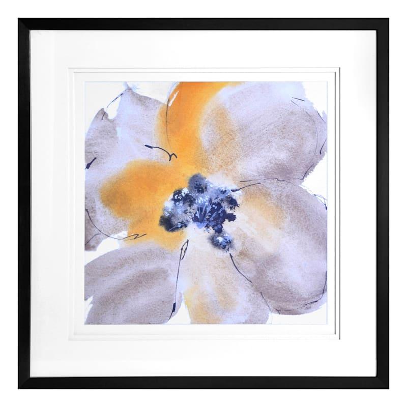 30X30 Flower Tones I Framed/Glass Art
