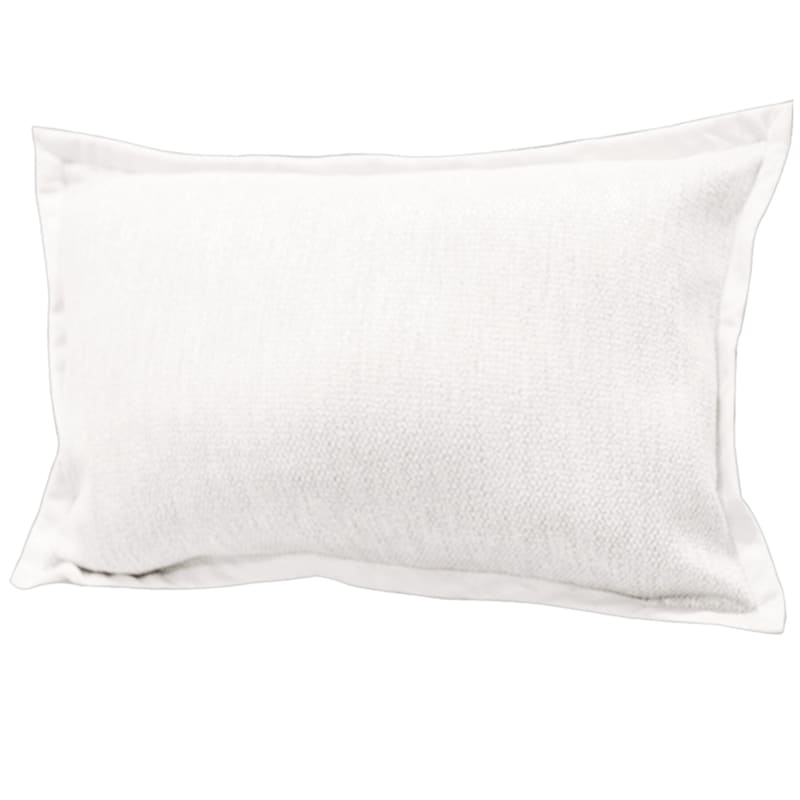 Miles White Jacquard Pillow With Flange 16X24