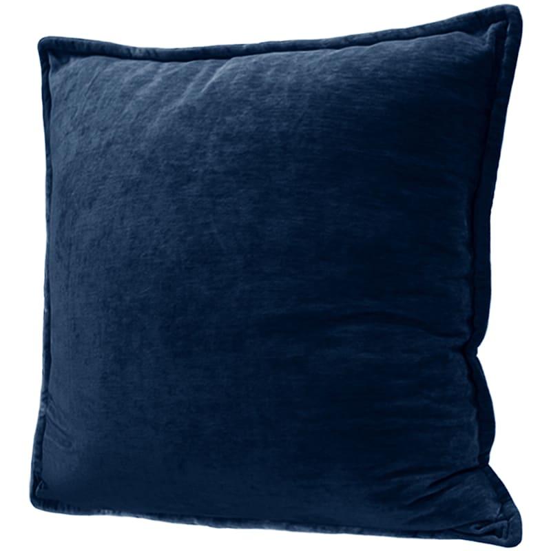 Maya Teal Chenille Velvet Pillow Blossom 24X24