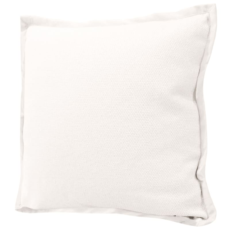 Miles White Jacquard Pillow With Flange 22X22