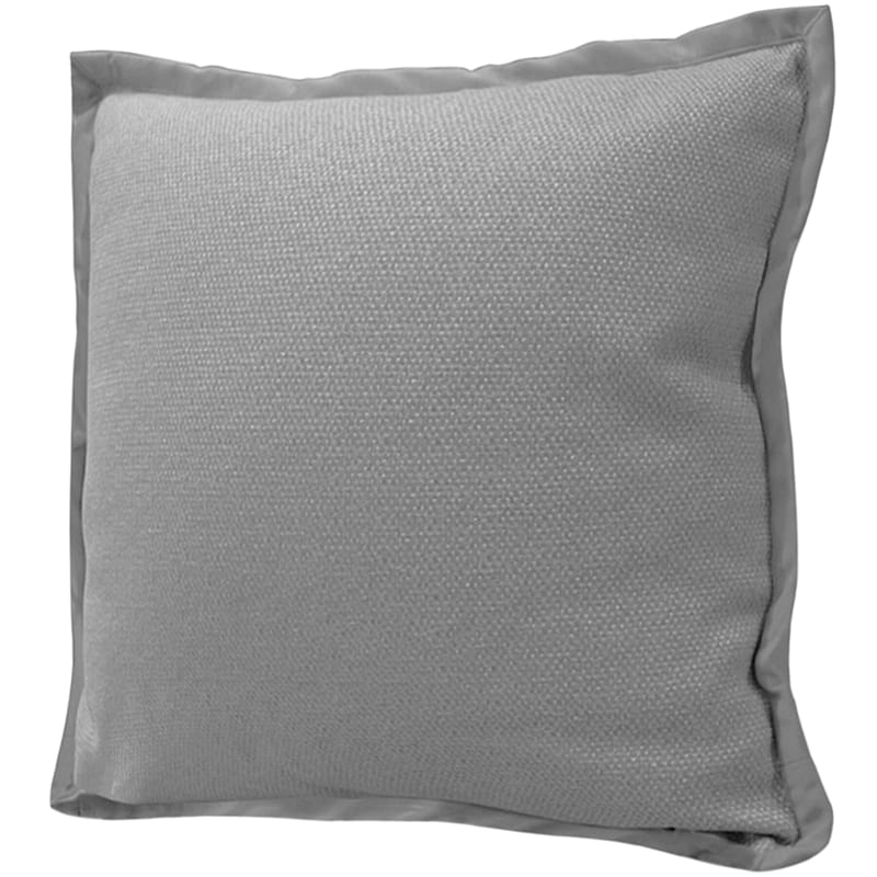 Miles Silver Jacquard Pillow With Flange 22X22