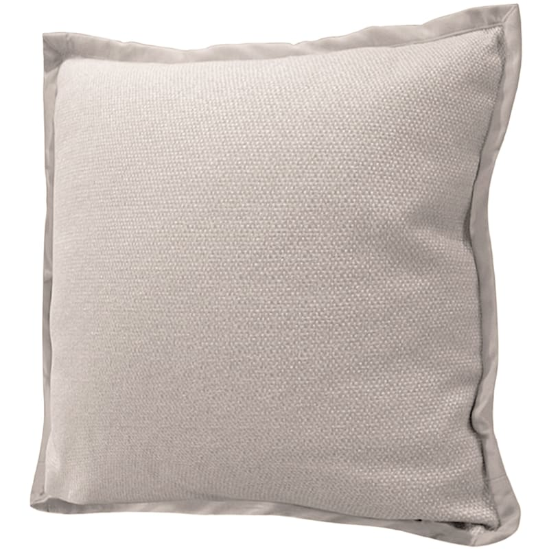 Miles Sand Jacquard Pillow With Flange 22X22