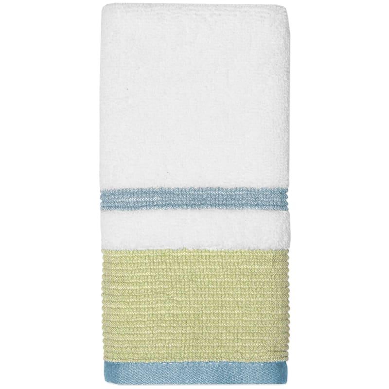 Samantha Sage/Aqua Finger Tip Towel