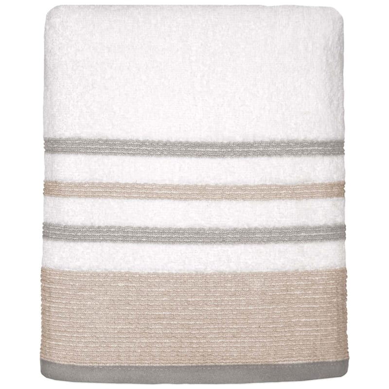 Samantha Sand/Grey Bath Towel