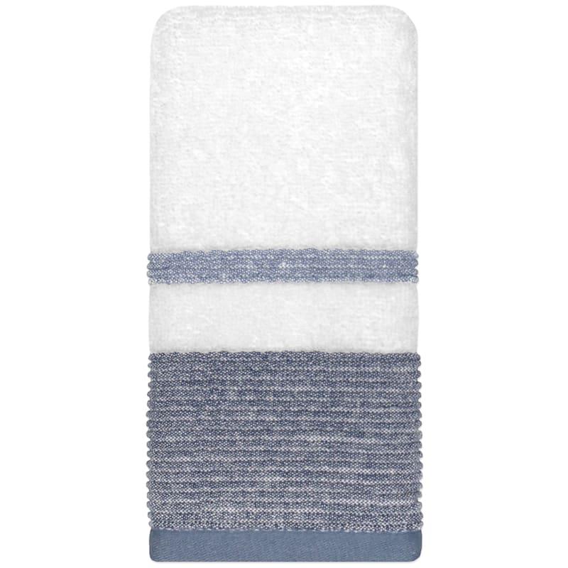 Samantha Blue/Grey Finger Tip Towel