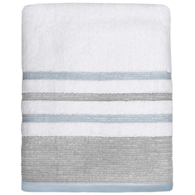 Samantha Aqua/Grey Bath Towel