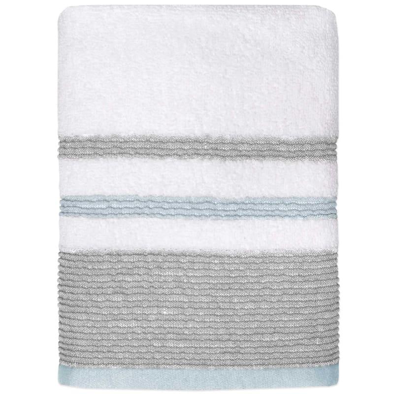 Samantha Aqua/Grey Hand Towel
