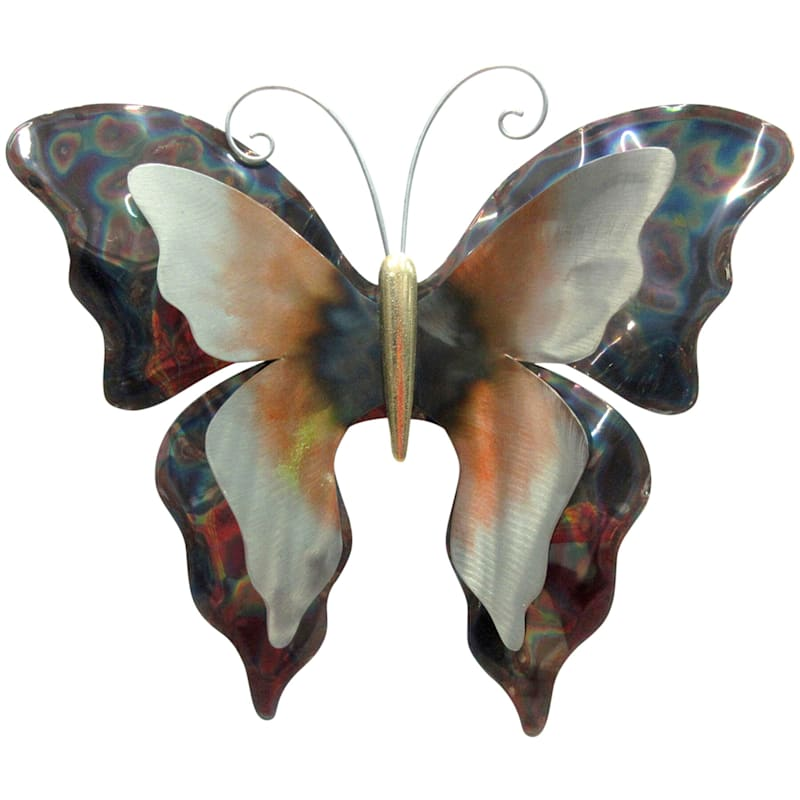 19in. Metal Butterfly Wall Plaque