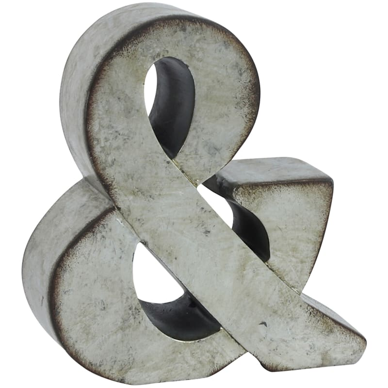 6in. Resin Distressed Ampersand
