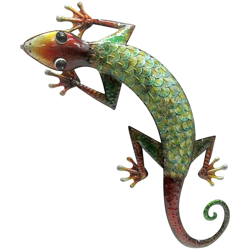 Metal Gecko Wall Plaque, 28""