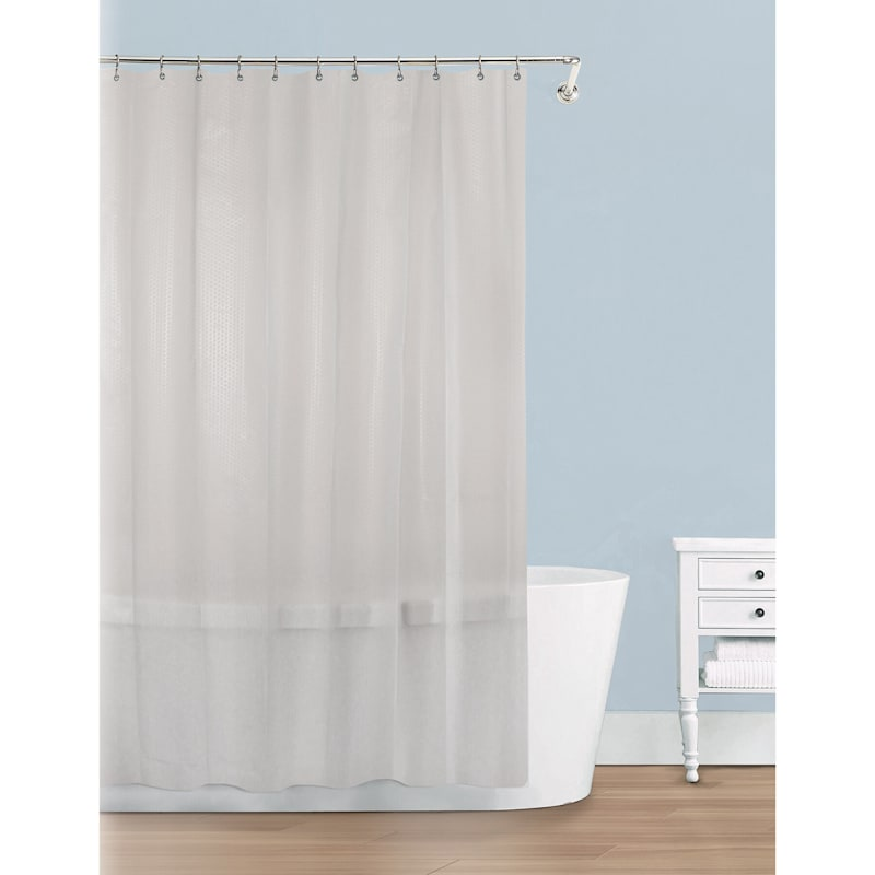 Motto Frosted Shower Curtain Liner 70X72