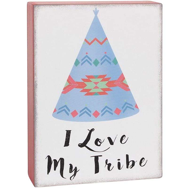 Block 'I Love My Tribe' Outdoor Art 5 x 7-in