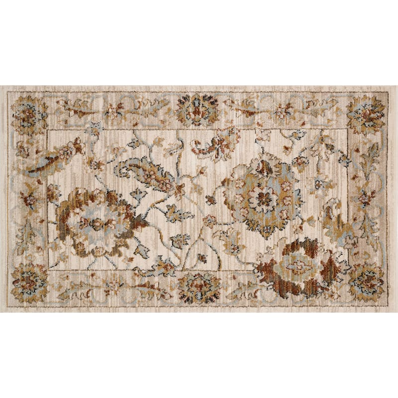 (D400) Bradford Traditional Ivory Area Rug, 3x5