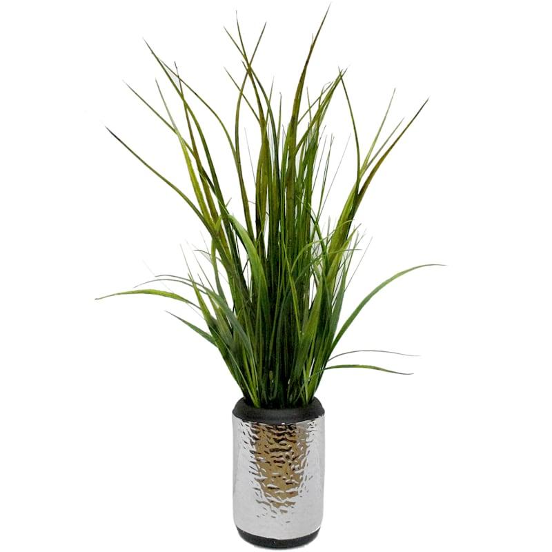 22X8 Grass Silver Ceramic Pot