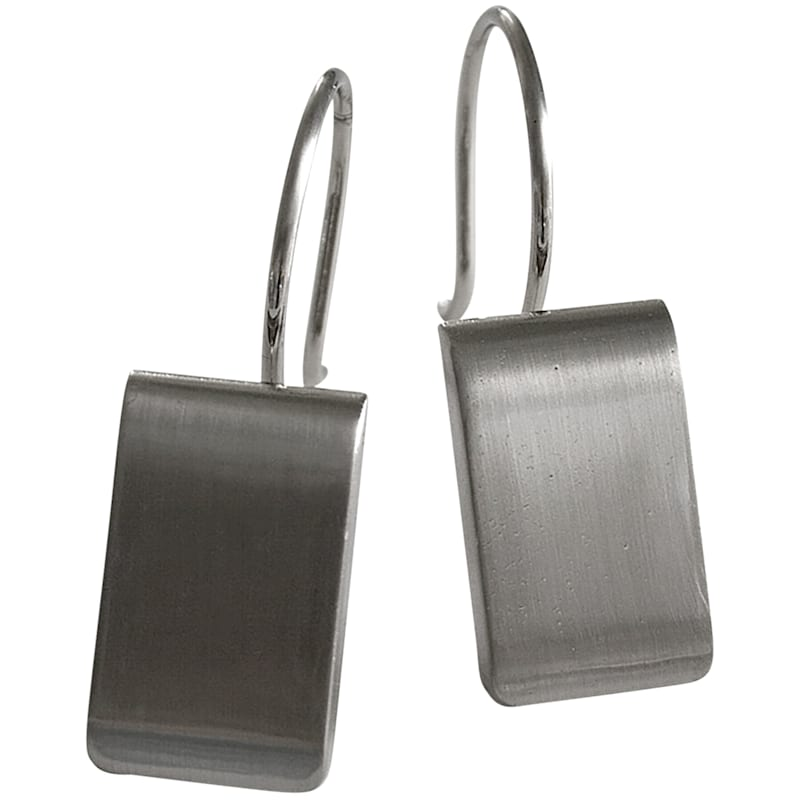 Satin Nickel Mercantile Shower Curtain Hooks
