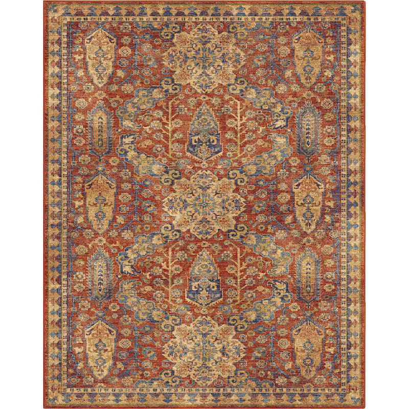 (A380) Bombay Red Area Rug, 8x10