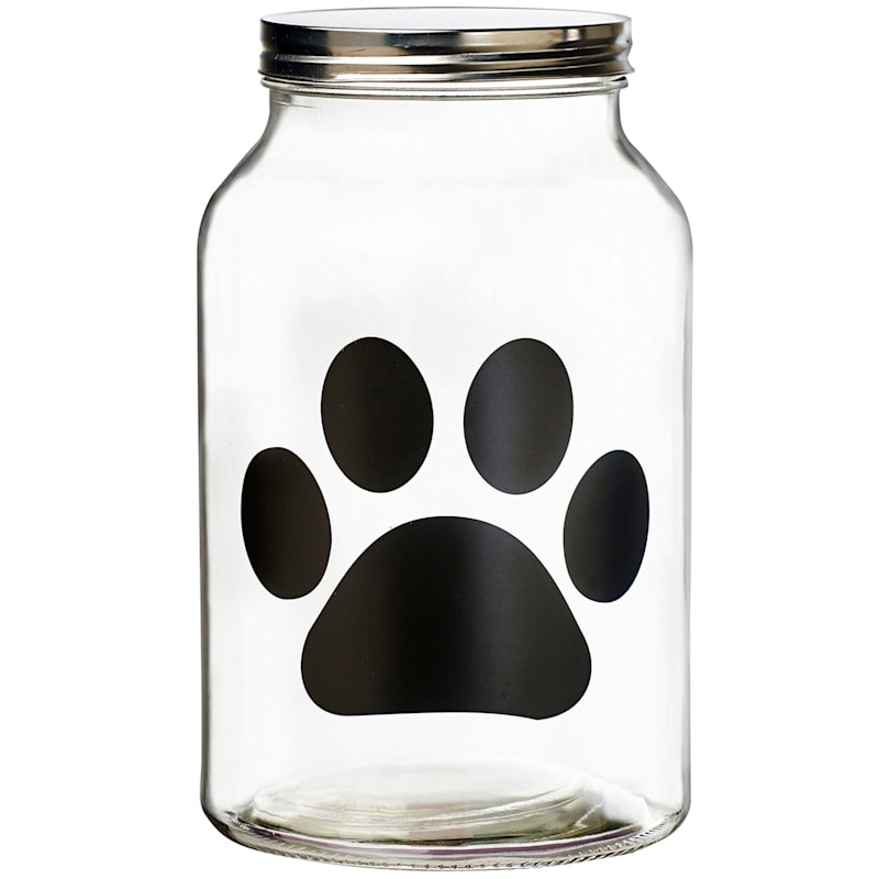 Buddy Paw Chalkboard Canister Large