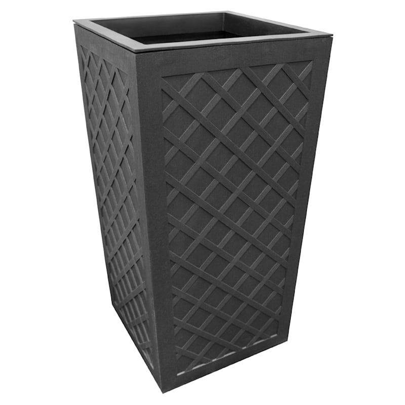 Vitality Slate Recycled Rubber Planter 14X19X26