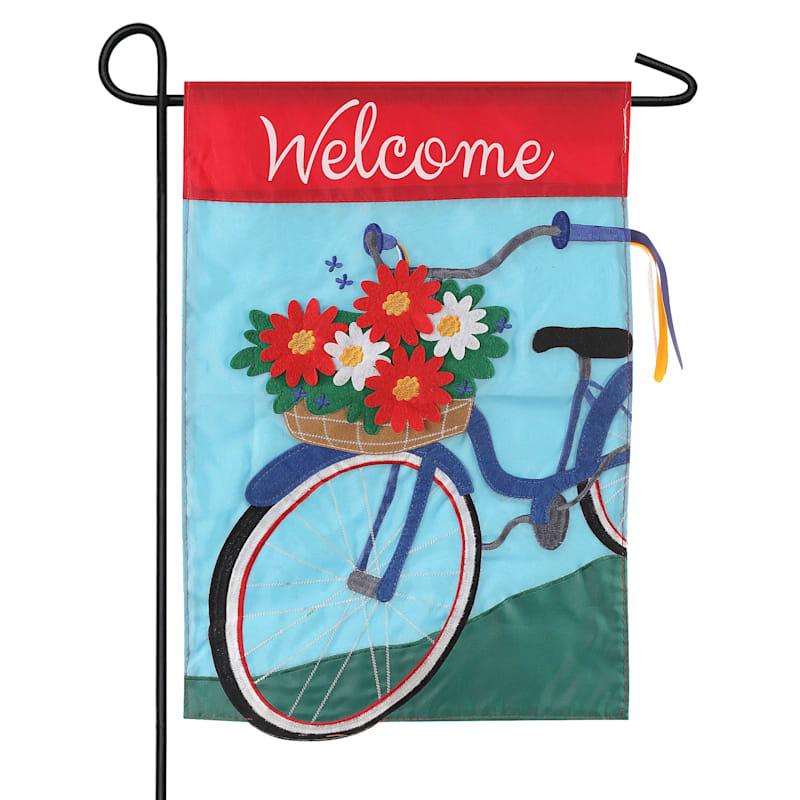 Summertime Bicycle Garden Flag