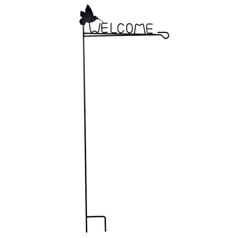 METAL  GARDEN FLAG HOLDER