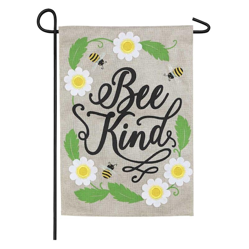 Bee Kind Burlap Garden Flag