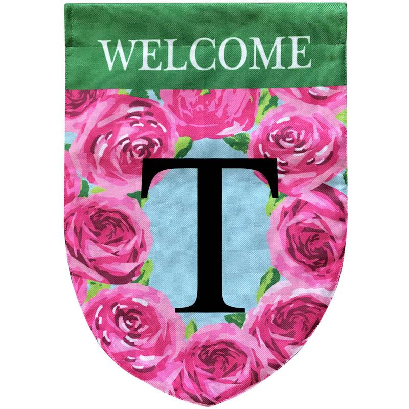 WELCOME FLOWER MONOGRAM T