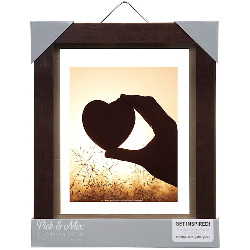 Pick And Mix 11X14 Espresso Float Wall Frame