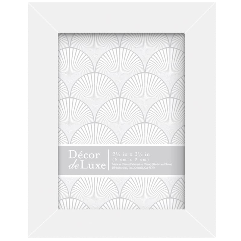 2.5In.X3.5In. Distressed White Tabletop Frame