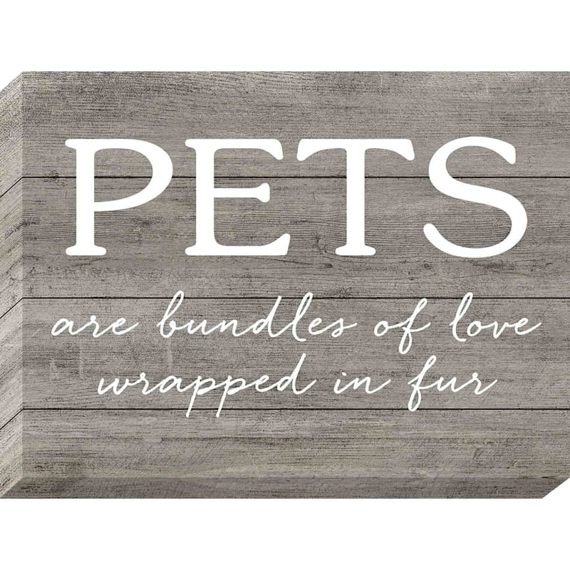 12X16 Pets Are Bundles Of Love Textured Canvas