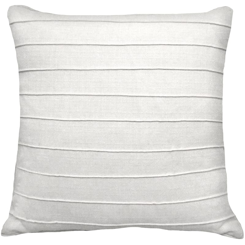Dynasty White Pintuck Pillow 20X20