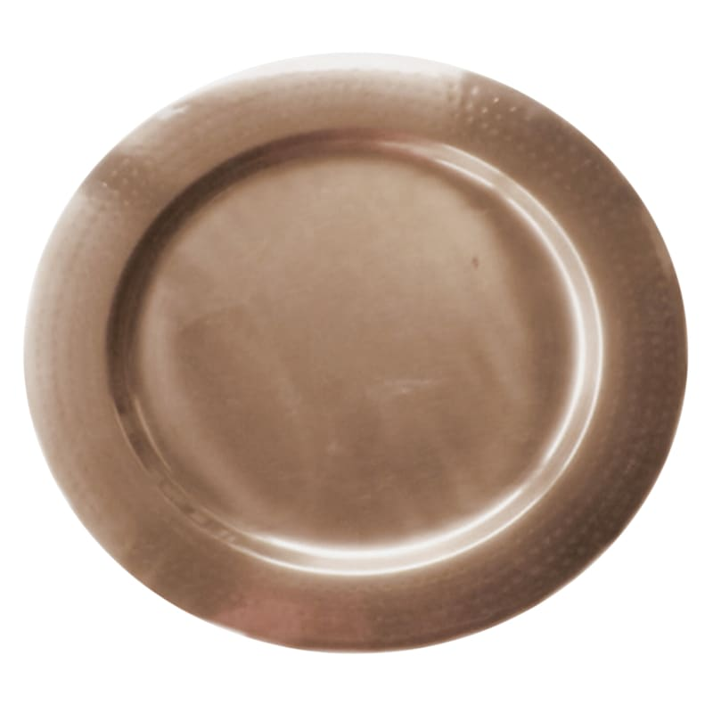 """Copper Metal Charger, 14"""""""