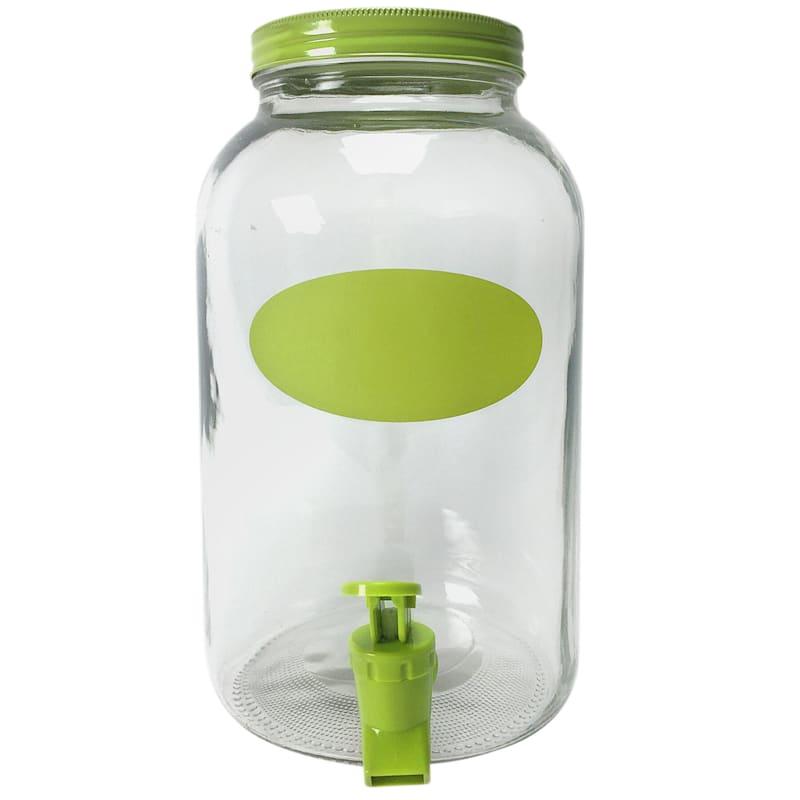 128oz Lime Chalk Faced Dispenser