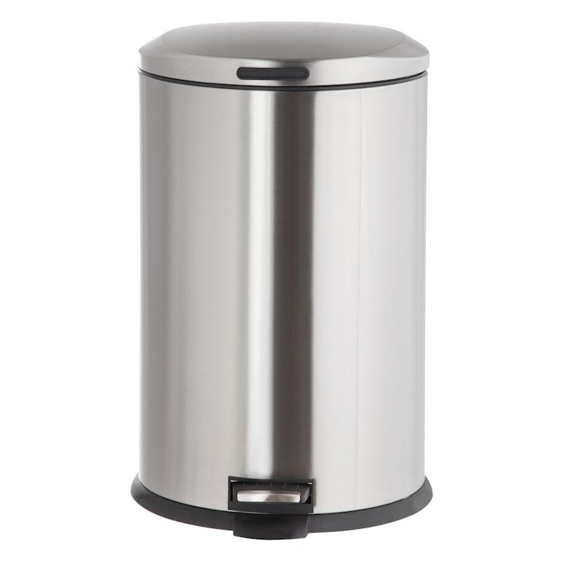 45L Oval Pedal Bin Stainless Steel