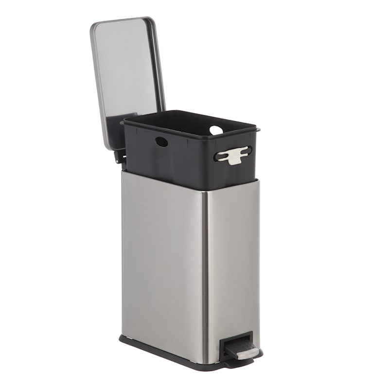9 7l Slim Rectangle Pedal Bin Stainless Steel At Home