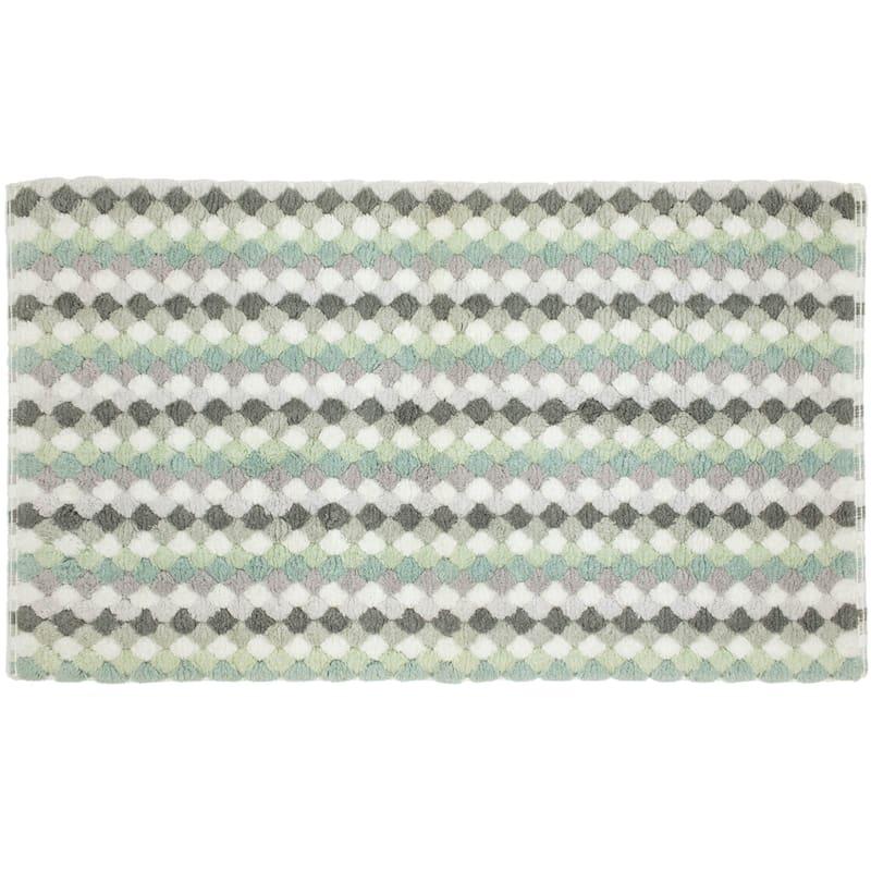 Multi Greys Tuffets Absorbant Cotton Bath Rug 20X34