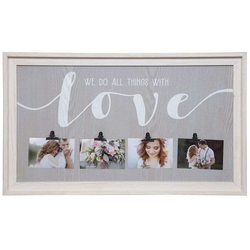 19X32 All Things With Love 4 Clip Photo Collage