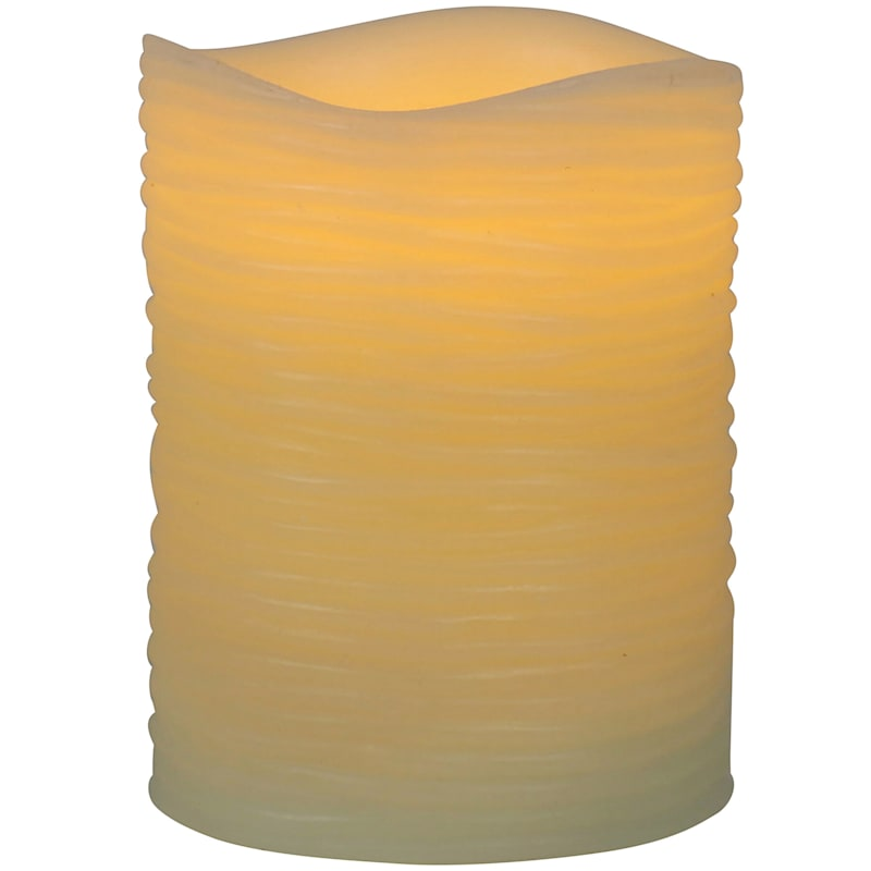 3X4 Led Wax Candle With 6 Hour Timer Ivory