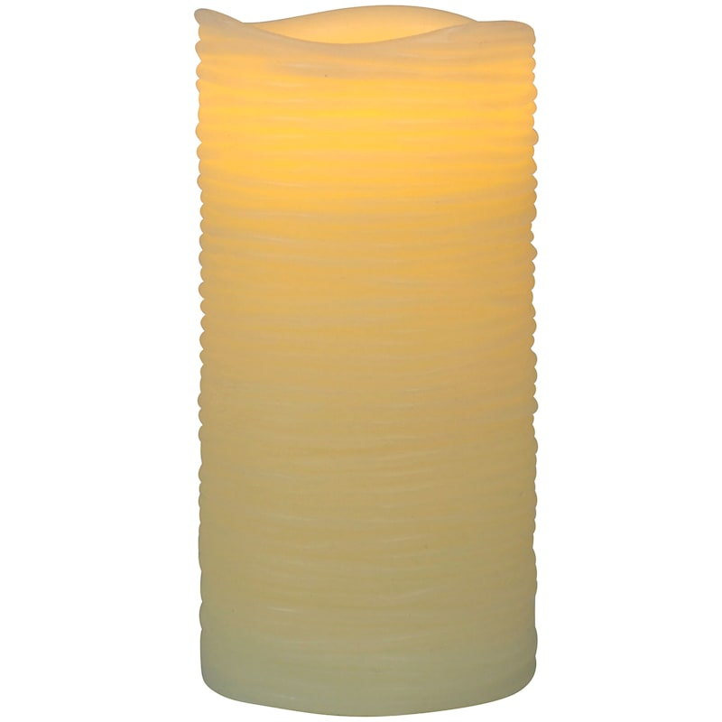 3X6 Led Wax Candle With 6 Hour Timer Ivory
