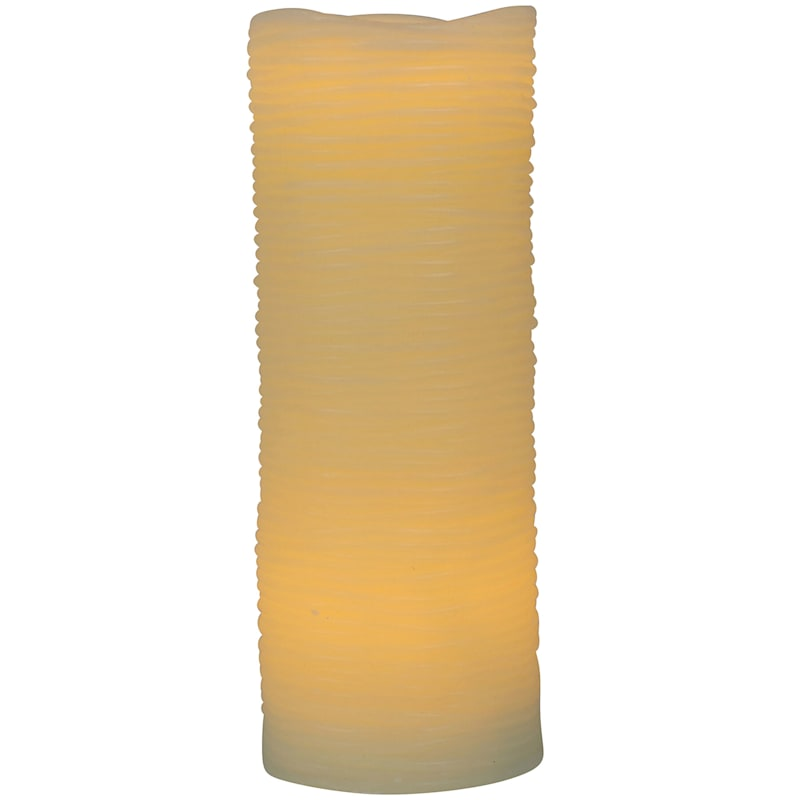 3X8 Led Wax Candle With 6 Hour Timer Ivory