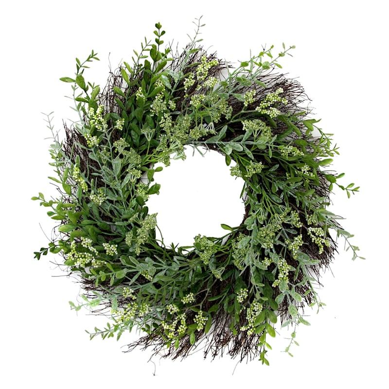 22X22 Gr Fern Wreath