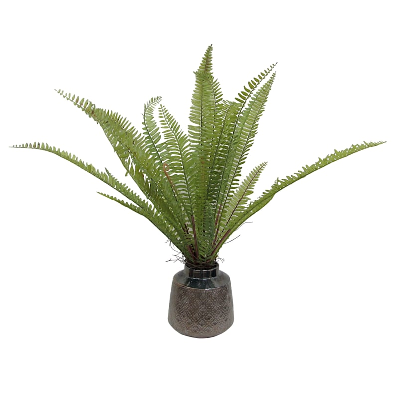 10X9 Green Fern Bronze Pot