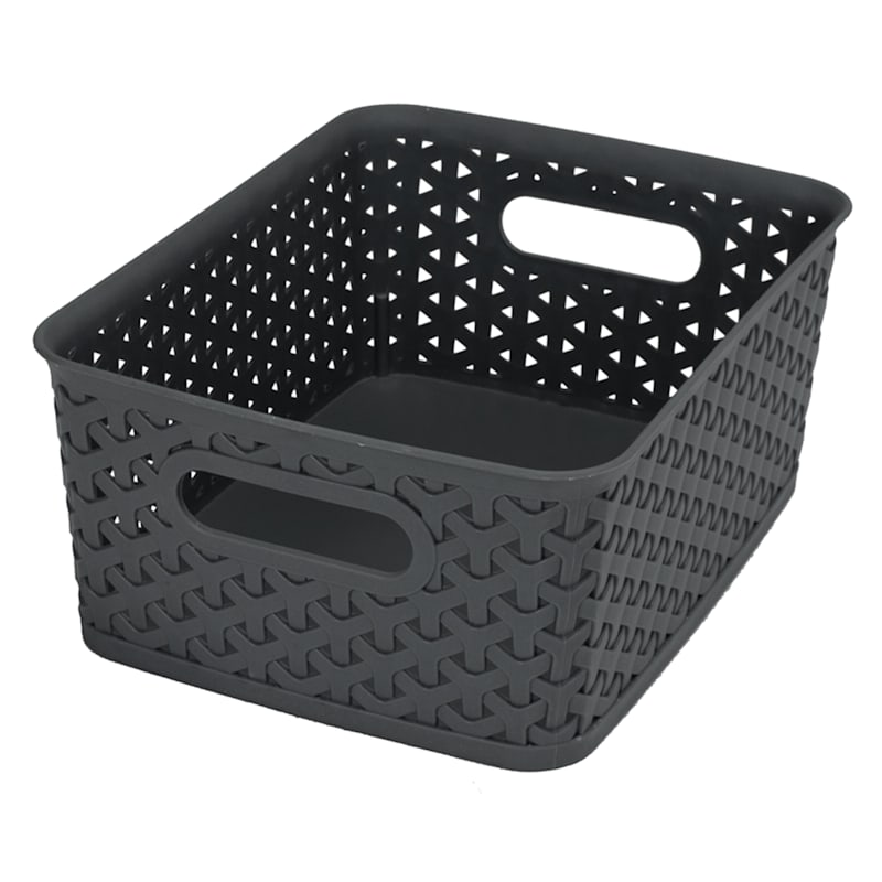 10X8 Weave Basket Black
