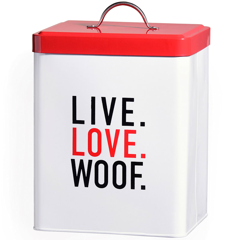 Live Love Woof Canister