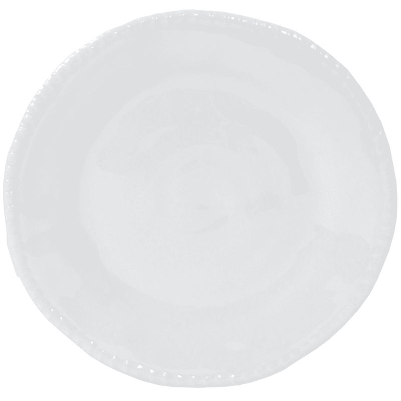 White Rope Melamine Salad Plate
