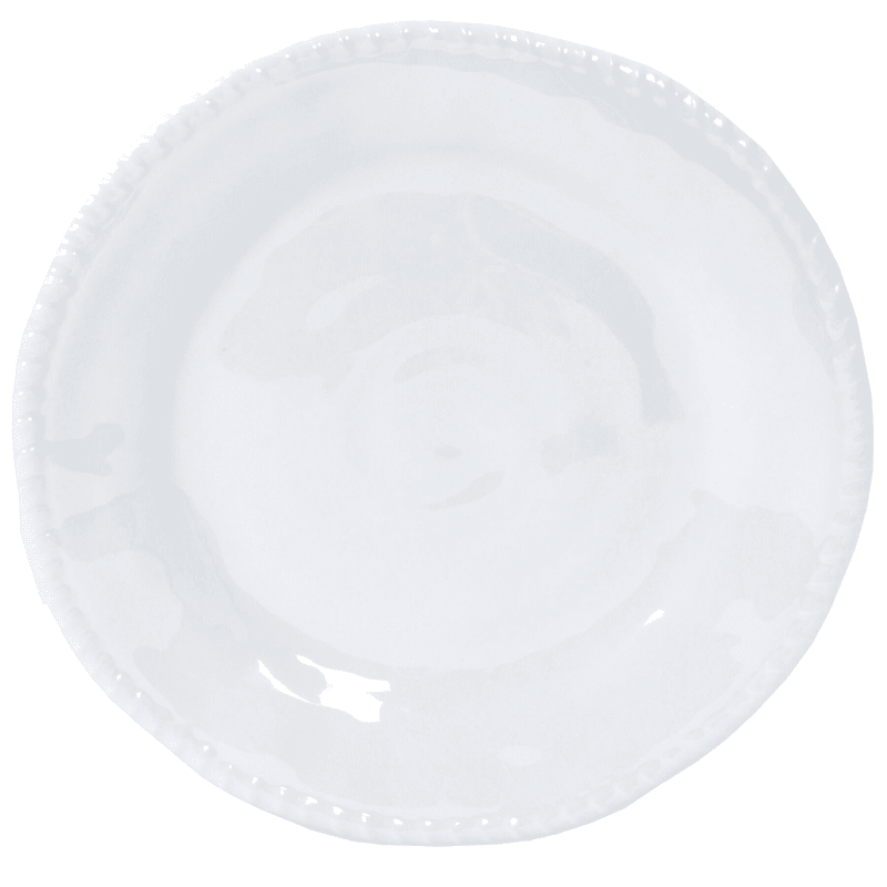 Melamine White Rope Detail Dinner Plate