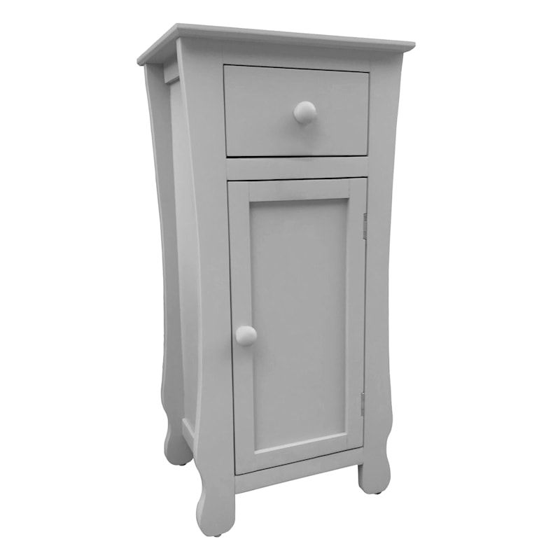 Grey One Drawer Thick Leg Table